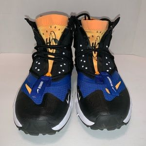 Nike Air Huarache Gripp Black White Orange Size 7